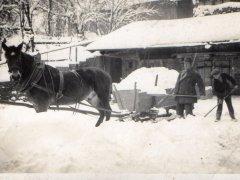 Zima 1938 - odśnieżanie