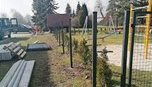 Ogrodzenie placu zabaw w Łubowicach